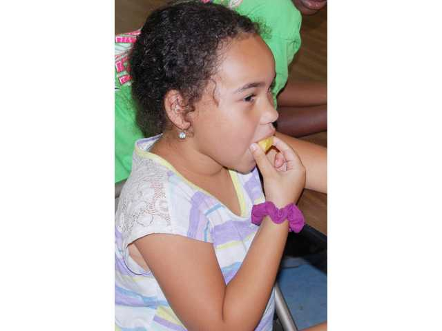 Camp Emmanuel kids learn about fruits and vegetables