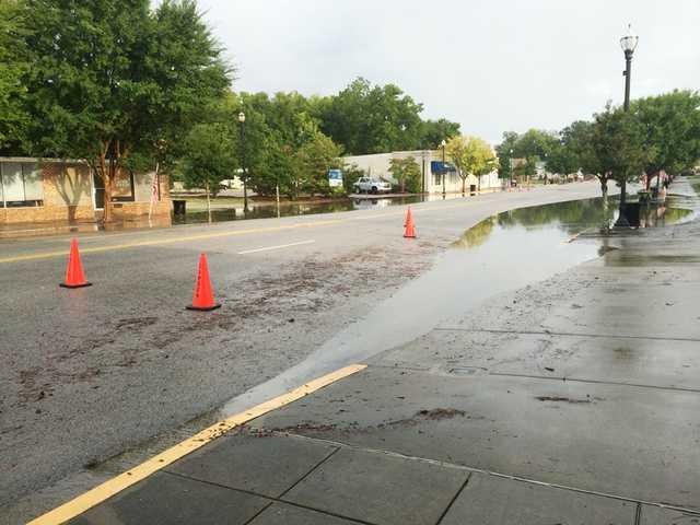 Heavy rains, lightning cause flooding, fires