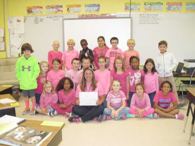 Lugoff Elementary Pinks Out for breast cancer awareness