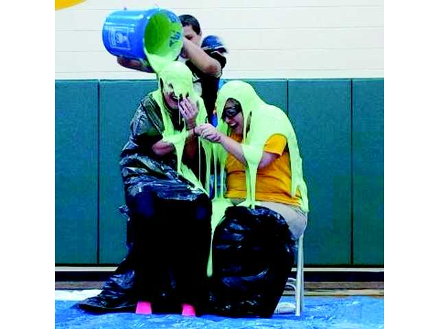NCHS teacher and assistant principal get slimed
