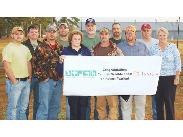 INVISTA Camden volunteers recognized for maintaining wildlife habitat