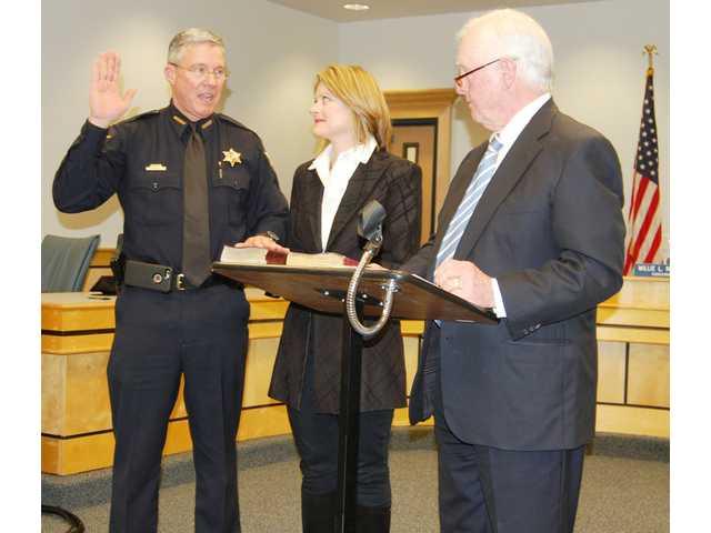 Matthews sworn in for second term