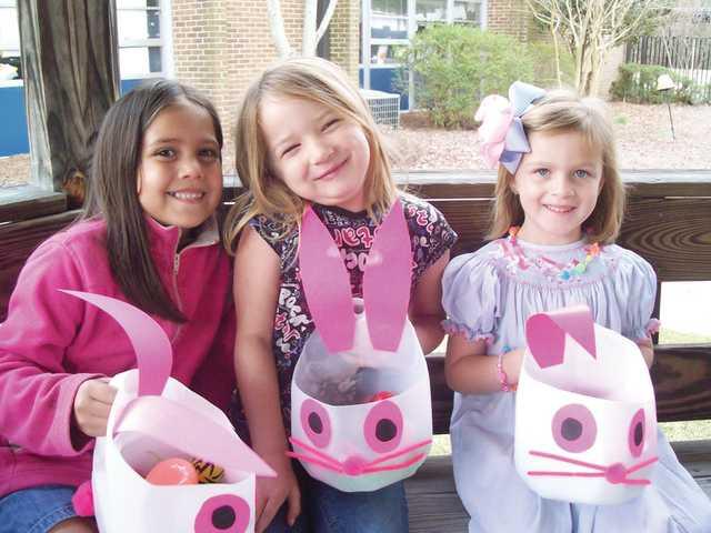 Students enjoy Easter egg hunt at Lugoff Elementary