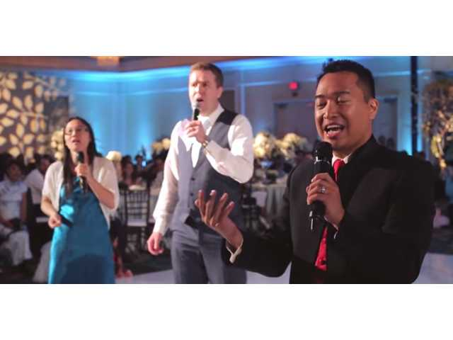 Groom surprises his bride with a special 'Centerpiece' musical