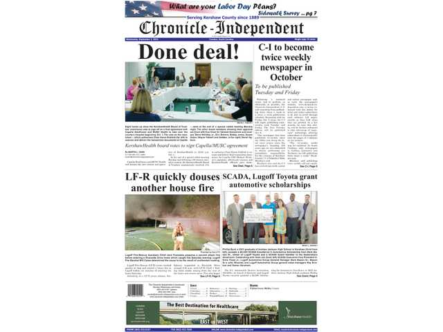 C-I to become twice weekly newspaper in October