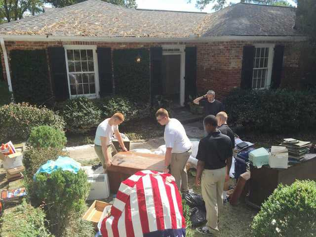 Camden Military Academy, others help with relief efforts in the Midlands