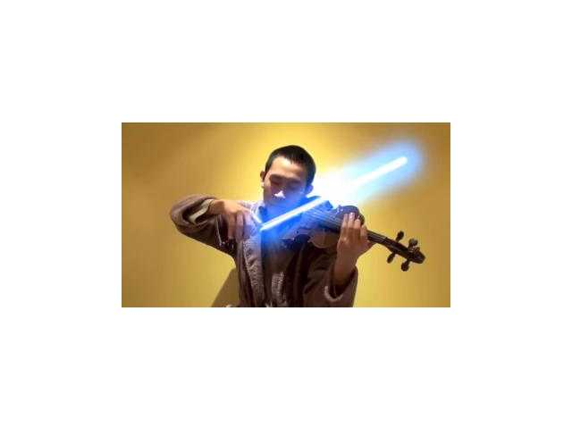 Have You Seen This? Star Wars song played with lightsaber violin