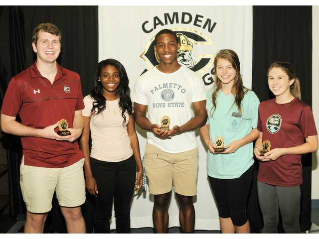 CHS Paw Print Exemplary Service Award recipients