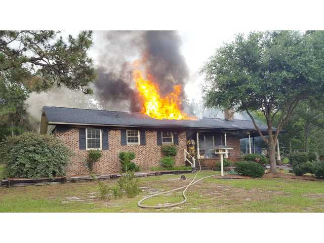 Smoke from Lugoff house fire seen near Lee County line