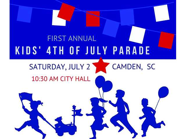 First annual kids' 4th of July parade in downtown Camden, July 2