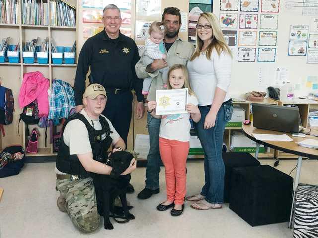 First-grader submits winning KCSO K9 name