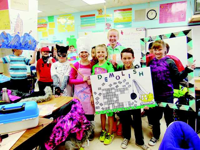Wateree Elementary School vocabulary parade
