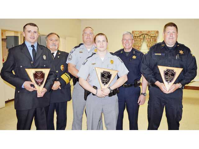 Legion honors first responders, long-time members