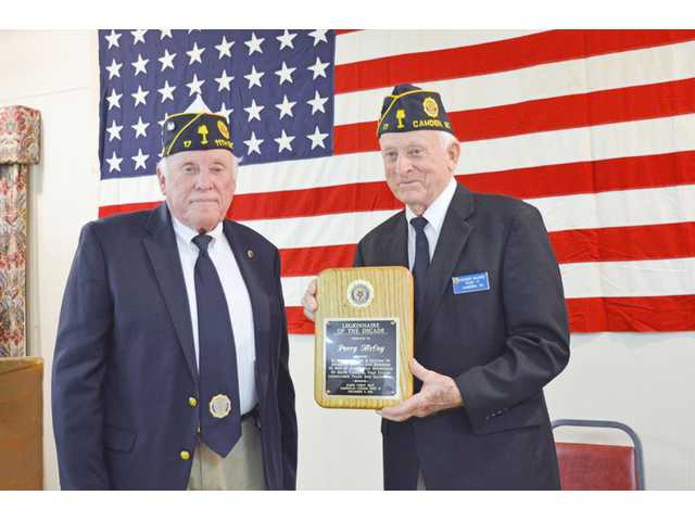 Legion honors first responders, long-time members