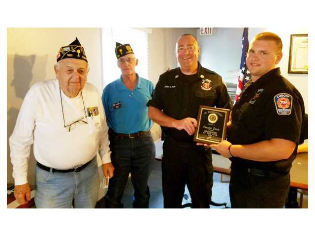 Post 195 names Davis as Firefighter of the Year