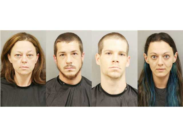 Traffic stop leads to meth lab, four arrests
