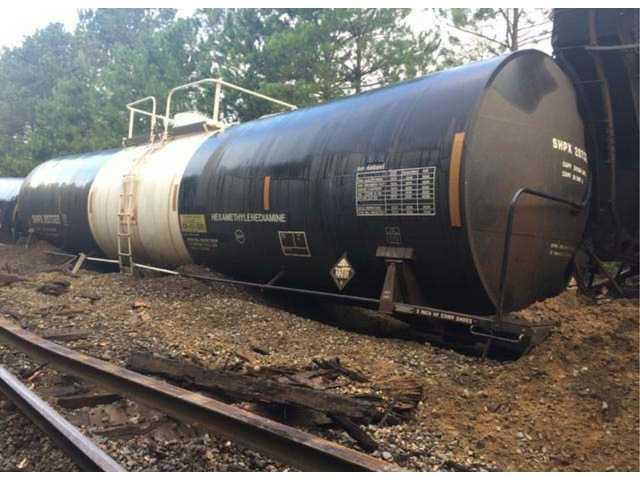 Train derailed in Lugoff
