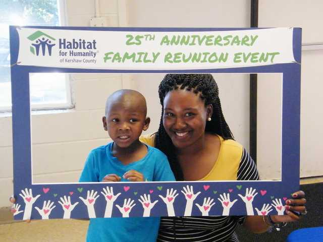 Habitat for Humanity celebrating homeowners with picnic