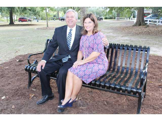 City dedicates Legacy bench to Rev. Hancock