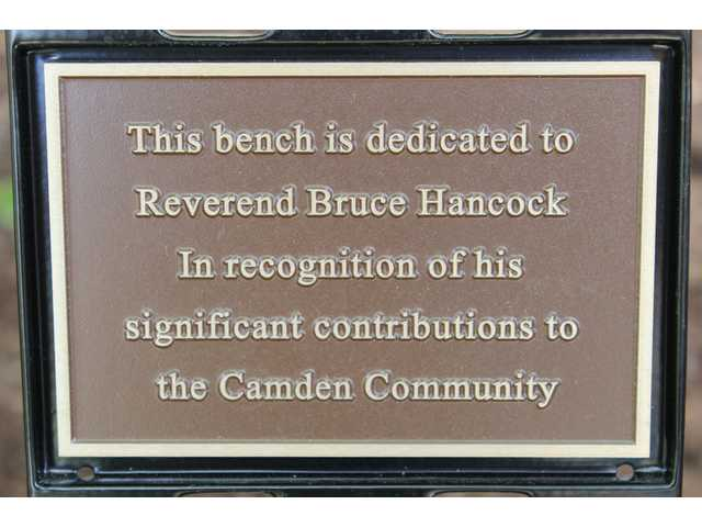 City dedicates Legacy bench to Rev. Hancock