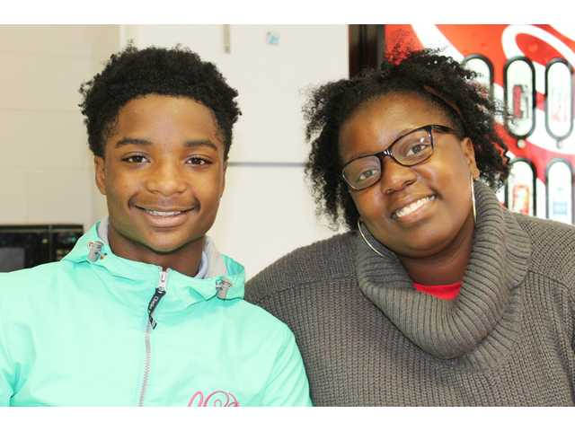 Anthony Lyles (left), an 8th Grader at Camden Middle School (CMS) is one of only 10 students nationwide to be awarded a 2017 Be Fearless/Be Kind Award from the Hasbro Children's Fund. With him is Ashley Middleton, the CMS special needs teacher who nominated him for the award. Anthony is being rewarded for his work with CMS' Special Olympics Champion Unified School program. As part of his award, CMS will receive $1,000, which will go primarily toward transportation costs for field trips and sporting events.