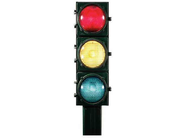 Bethune stoplight, intersection nearly finished