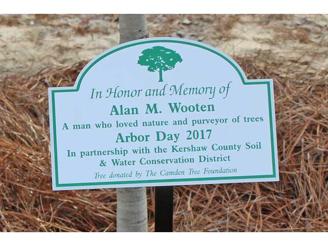Wooten honored on Arbor Day