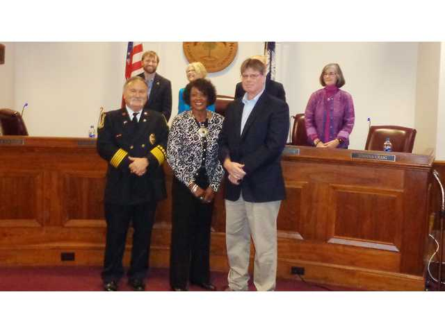 Council recognizes officer, firefighter of the year