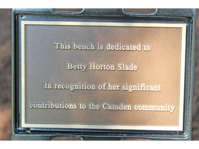 Betty Slade honored with Leader's Legacy bench