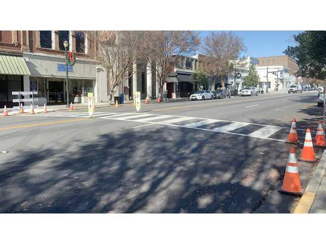 SCDOT prepping new crosswalks on Broad Street