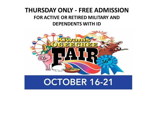 Happening Today:  Military Appreciation Day at Kiwanis Ogeechee Fair, Statesboro.  Click to see, post your event free.