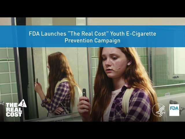 It's more than $35: FDA alerts teens of the 'real costs' of vaping with a bathroom ad