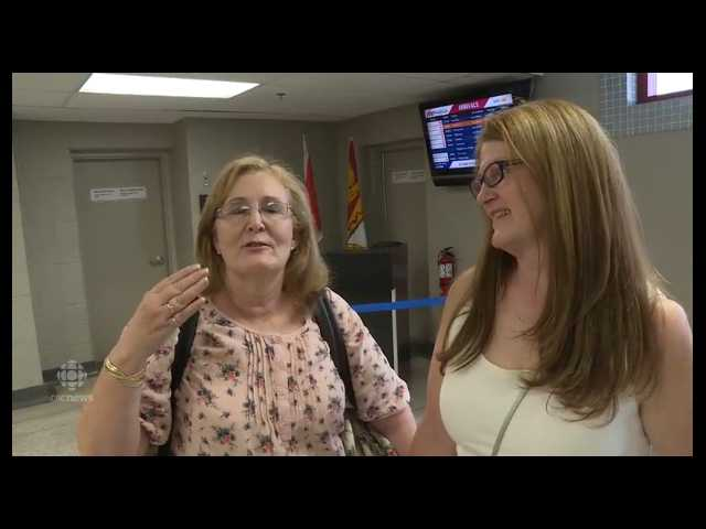 Long lost sisters meet in airport for first time