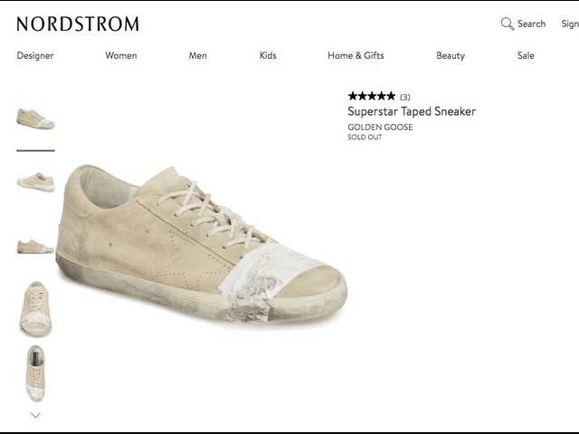 Nordstrom is selling taped-up, dirty sneakers for $530