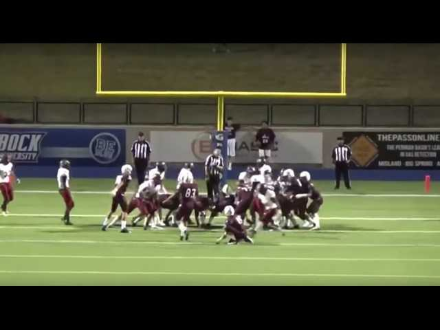 Have You Seen This? Kicker nails ref and still gets the extra point
