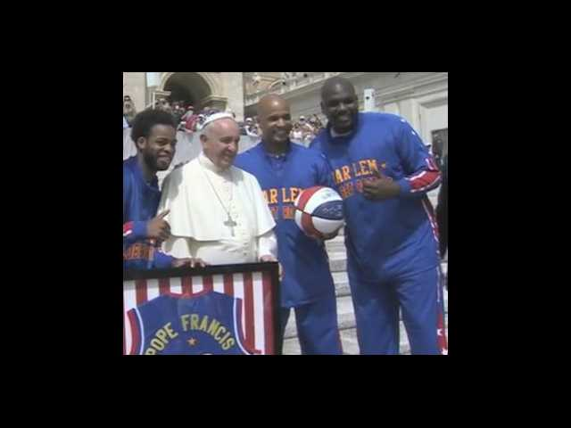 Have You Seen This? Pope Francis becomes Harlem Globetrotter