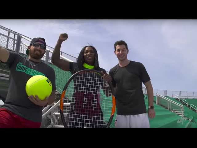 The Clean Cut: Serena Williams, Dude Perfect take on trick tennis shots