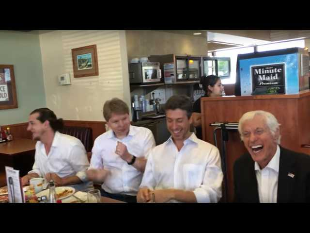 The Clean Cut: Dick Van Dyke surprises a crowd at Denny's with 'Chitty Chitty Bang Bang' performance