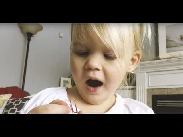 The Clean Cut: 3-year-old girl grateful for a paperclip