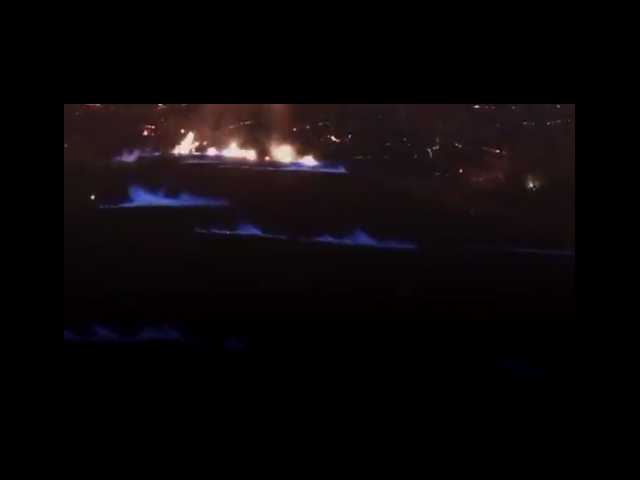 Video: These 'eerie' blue flames just popped up in Hawaii