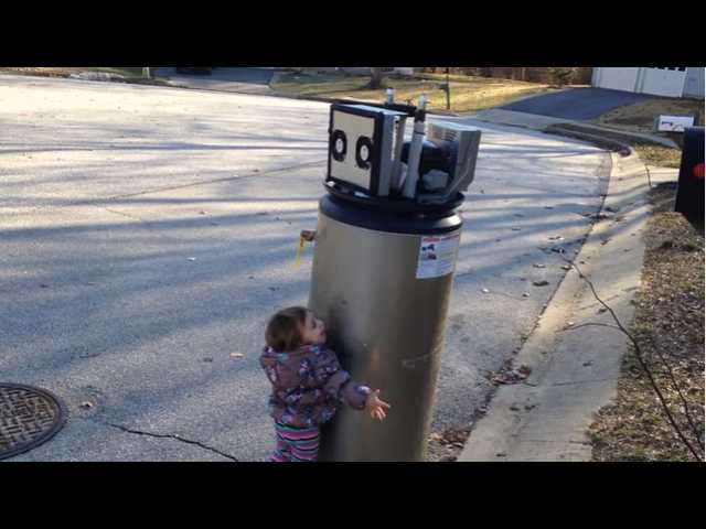 Have You Seen This? Little girl meets a robot