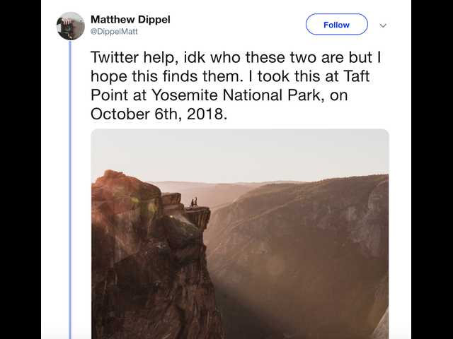 Photographer seeks help finding the mystery couple in his Yosemite proposal picture