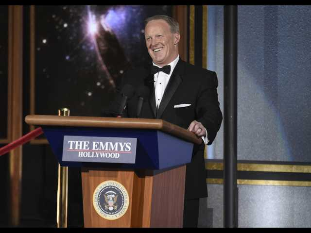 Sean Spicer appeared at the Emmys, and no one is happy about it. Here's why it happened