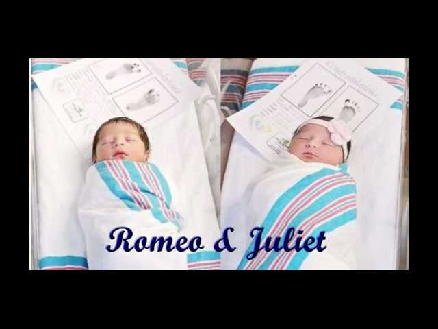 A Shakespearean tale: Babies Romeo and Juliet born 18 hours apart at same hospital