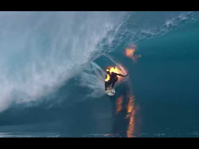 Have You Seen This? Surfing on fire