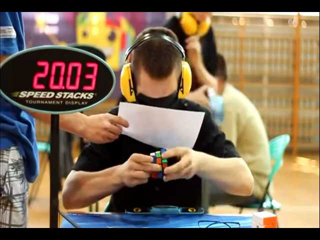 Have You Seen This? Blindfolded Rubik's Cube solve