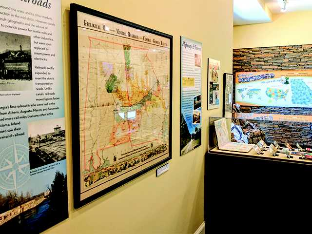 Student-developed exhibit about more than just maps