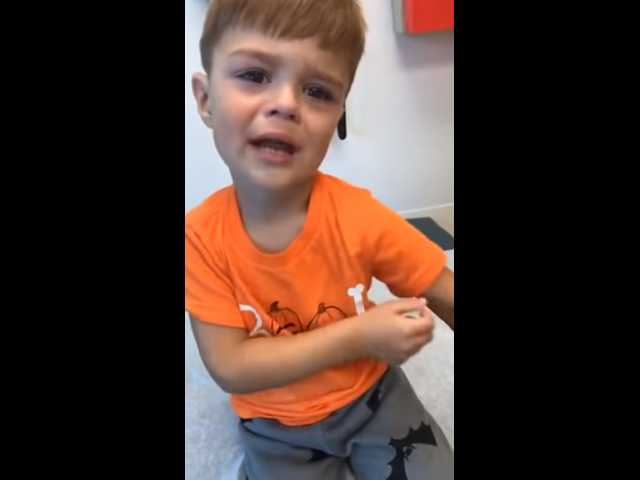 Have You Seen This? Boy is adorable emotional roller coaster after shots