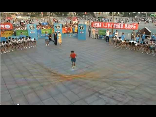 Have You Seen This? 110 jump ropes jumped for world record