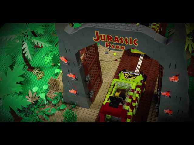 Have You Seen This? Daddy-daughter duo recreates 'Jurassic Park' with Lego